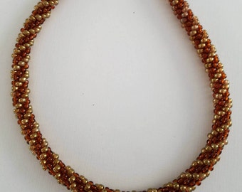 Gold & Topaz Kumihimo necklace