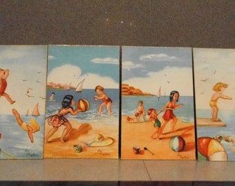 Lot of four vintage postcards