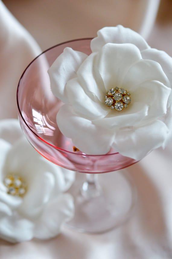 White Rose - Crystal Flower