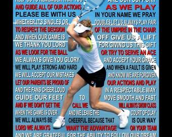 The Tennis Prayer personalized with photo, Tennis Prayer, Tennis Poster, Tennis Print, Sports Banquet, Senior Night,  Tennis,