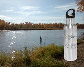 River Map WATER BOTTLE - ...