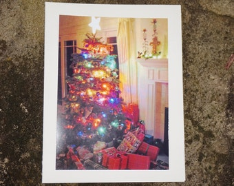Blank Christmas Card, Original Photography, Christmas Tree Card, Blank Holiday Card, Blank Card, Unique Xmas Card