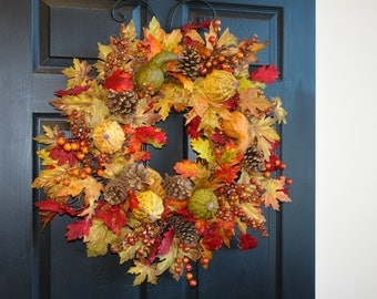 fall wreath Thanksgiving wreaths for front door wreaths outdoor welcome wreaths outdoor wreaths decorations wall decor welcome wreaths