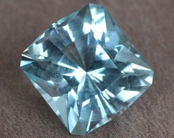 3.40 Carat Songea Tanzania Aquamarine Gemstone Precision Cut Gem