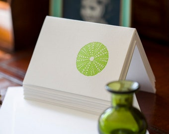 Sea Urchin Letterpress Card Set