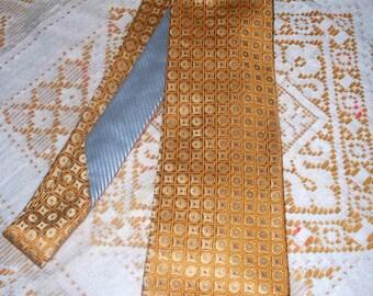 Vintage Tommy Hilfiger Geometric Men's Tie  - Yellow - Light Blue - Silk