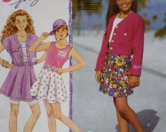 Simplicity 7846 / Barbie for Girls Shorts /Tank Tops / Jacket Sewing Pattern /Uncut/Size 7-10