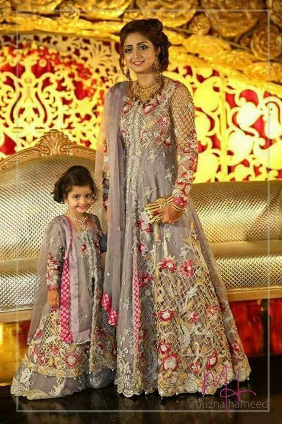 Mother daughter bridal dress grey wedding dresses by for Mother daughter dresses for weddings