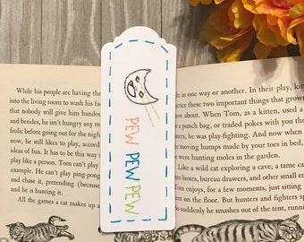 Laser Cat hand-embroidered bookmark pew funny embroidery internet cat cat paper goods books handmade bookmark cat meme grumpy cat