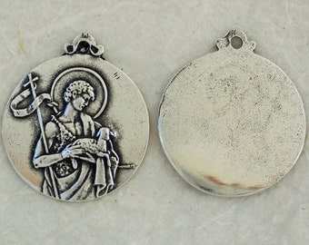 St. John the Baptist - MEDAL - Bronze or Sterling Silver - Reproduction Medal - Made in the USA (M-1349)