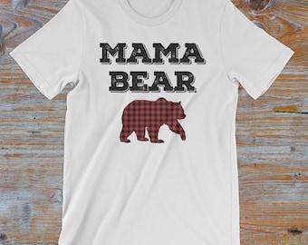 Mama bear t shirt etsy mama bear t shirt buffalo plaid shirt for women gift for mom publicscrutiny Image collections