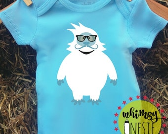 Abominable snowman hipster Christmas winter shirt gender reveal Island of Misfit Toys  photography snowman funny modern  new mom pregnant