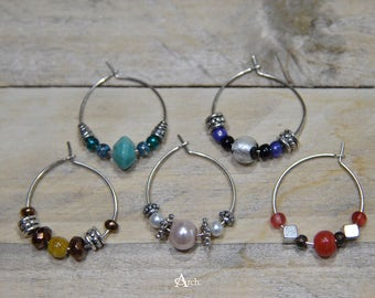 Beaded Wine Charms - Set of 5