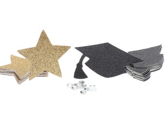 Star Confetti, Grad Cap Confetti, Graduation Confetti, 2017 Graduation Confetti, Graduation Table Decoration, Graduation Party Decoration