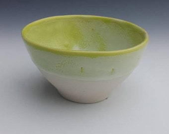 White & Pear Green Porcelain Espresso cup, demitasse cup, tea bowl, punch cup