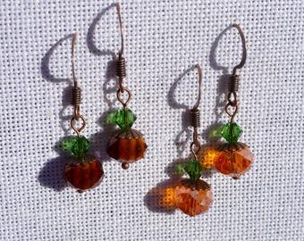 small autumn pumpkin earrings