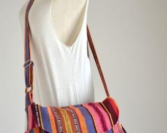 Hippie Messenger Bag Handbags Nepali Woven Bag Crossbody Bag Camera Bag Boho Bag Cotton Shoulder Bag Tribal Purse Ethnic Bag (London)