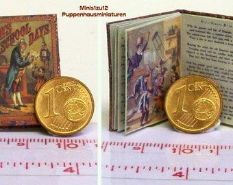 1209# Bobs schooldays - Children's Book - doll house miniature - in scale 1/12
