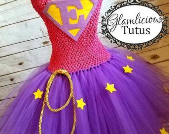 Superhero Tutu dress | Custom super hero Birthday outfit | Superhero