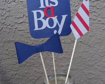 It's a Boy Centerpiece, Tie, Bow Tie