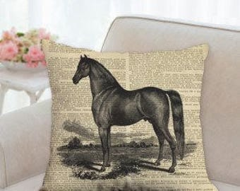 Beautiful Black Horse Designer Pillow (Two styles to choose from)