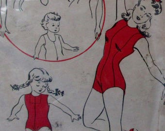 Vintage 1940s Dazians NO.1 Basic  Leotard Sewing Pattern Costume Size 4