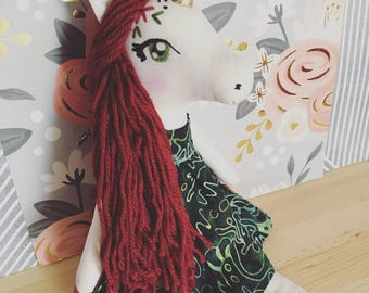 Reserved for Renee Hand made Unicorn Doll