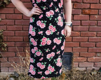 Modest Floral Knit Dress