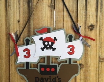 Pirate Ship Party Sign