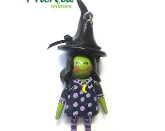 """The """"Wicked"""" Collection:  Elphaba (Ornament) - 6 - CAN BE PERSONALIZED w/ Add-On Option"""
