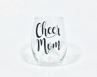 Cheer Mom Stemless Wine Glass - Cheerleader Mom - Dance Mom - Football Mom - Cheerleading - Cheer Mom Gift - Cheerleading Gift