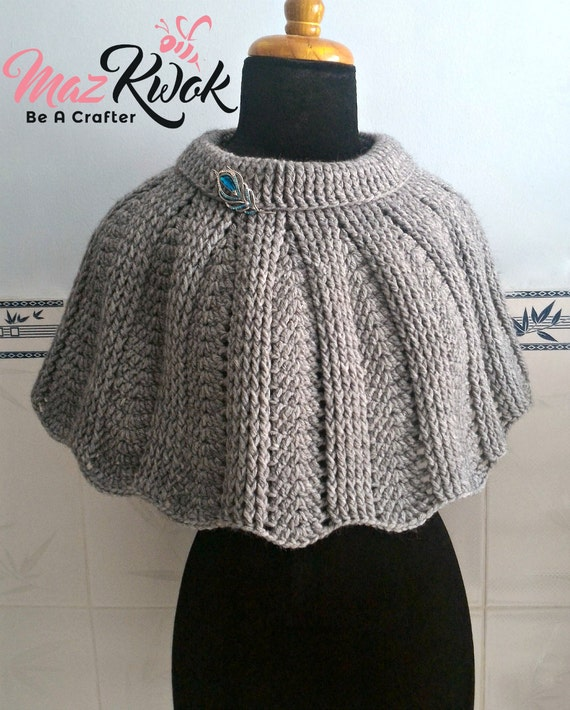 Crocheted Warm Embrace Poncho - free worldwide shipping
