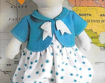 "Pattern ""Tilly"" Soft Doll Soft Toy Pattern by Ric Rac (RR053) Paper Pattern Instructions"