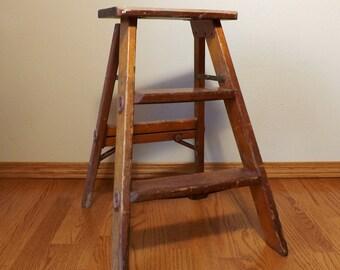 Pine Wood Ladder Etsy