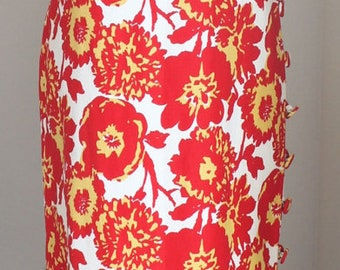 SALE - Vintage 1960s Jonathan Logan Hawaiian Maxi Dress - Fully Buttons Up Side - 60s Summer Dress