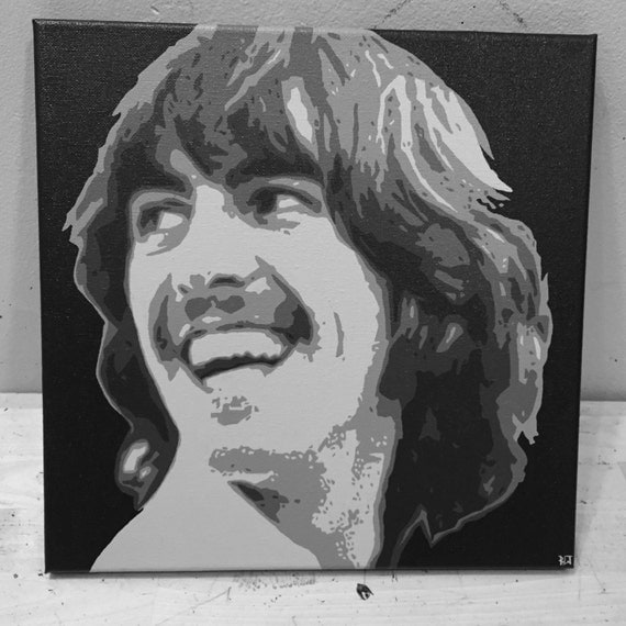 George Harrison Custom Pop Art Painting The Beatles Canvas Portrait