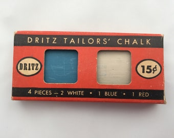 1949 DRITZ TAILORS' CHALK new in package Mid-Century Fashion Dressmaking Sewing Notions Display Collectibles D3
