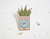Zebra Cactus Enamel Pin // Hard Enamel - Enamel Pin - Pin - Lapel Pin - Flair - Brooch - Collar Pin - Hat Pin - By Justine Gilbuena
