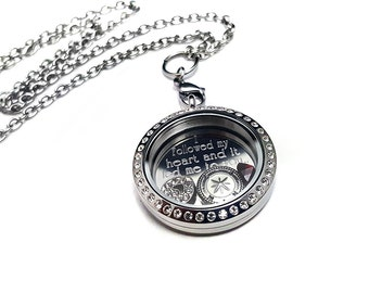 Valentine Name Locket + Couples locket - Valentine's Day gift - Gift for her - I love you locket - Follow my heart