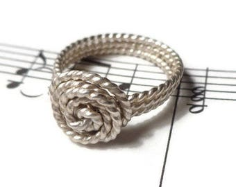 Sterling Silver Twisted Ring, Twisted Wire Ring, Size 2 3 4 5 6 7 8 9 10 11 12 13 14, Twisted Jewelry, Sterling Silver Twisted Wire Jewelry