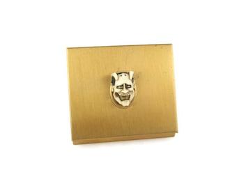 Devil Compact Mirror / Florenza Noh Mask Compact/ Shiro Hannya Compact / Japanese Theater 白般若 Mirror  / White Hannya Mask
