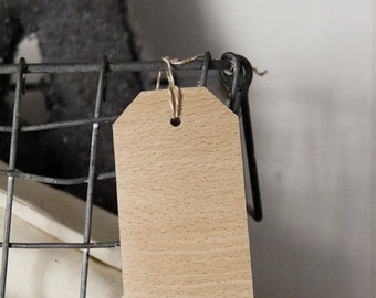 Wood gift tags - beech - set of 5