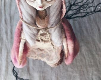 Anke. Handmade Mixed media Art Doll
