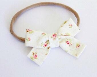 """Petite Rose """"Tied Bow"""" Style Nylon Headband"""