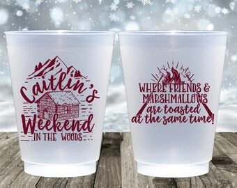 personalized plastic cup mountain wedding party cups frosted cups frost flex cups