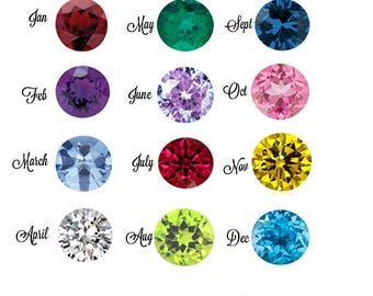 Round Faceted Birthstone Cubic Zirconia CZ Parcel Loose Stone Set for Jewelry Making 3mm 3.5mm or 4mm