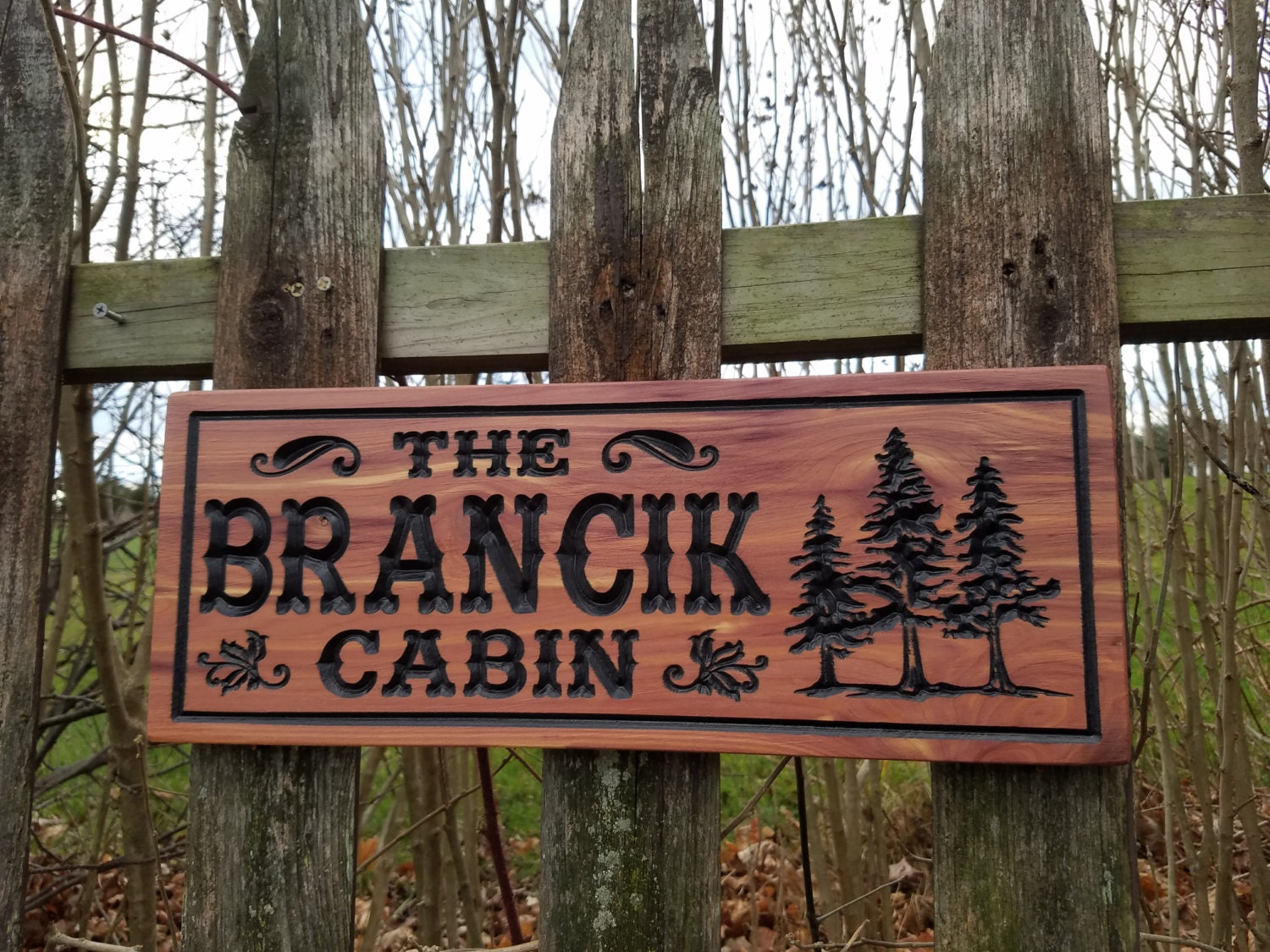 Cabin Signs Wooden Signs Custom Outdoor Name Sign Personalized Wooden Signs Custom Wood Signs
