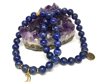 Lapis Lazuli Stretch Bracelet Set