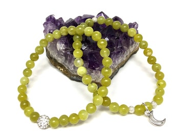 Peridot Stretch Bracelet Set
