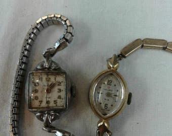 Vintage Helbros watch lot repair repurpose parts
